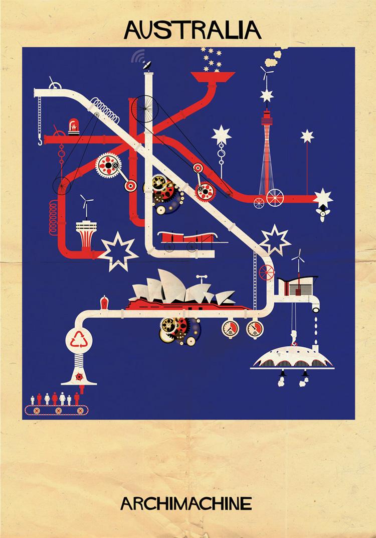 1-archimachine-federico-babina-illustrates-17-countries-through-architectural-machines