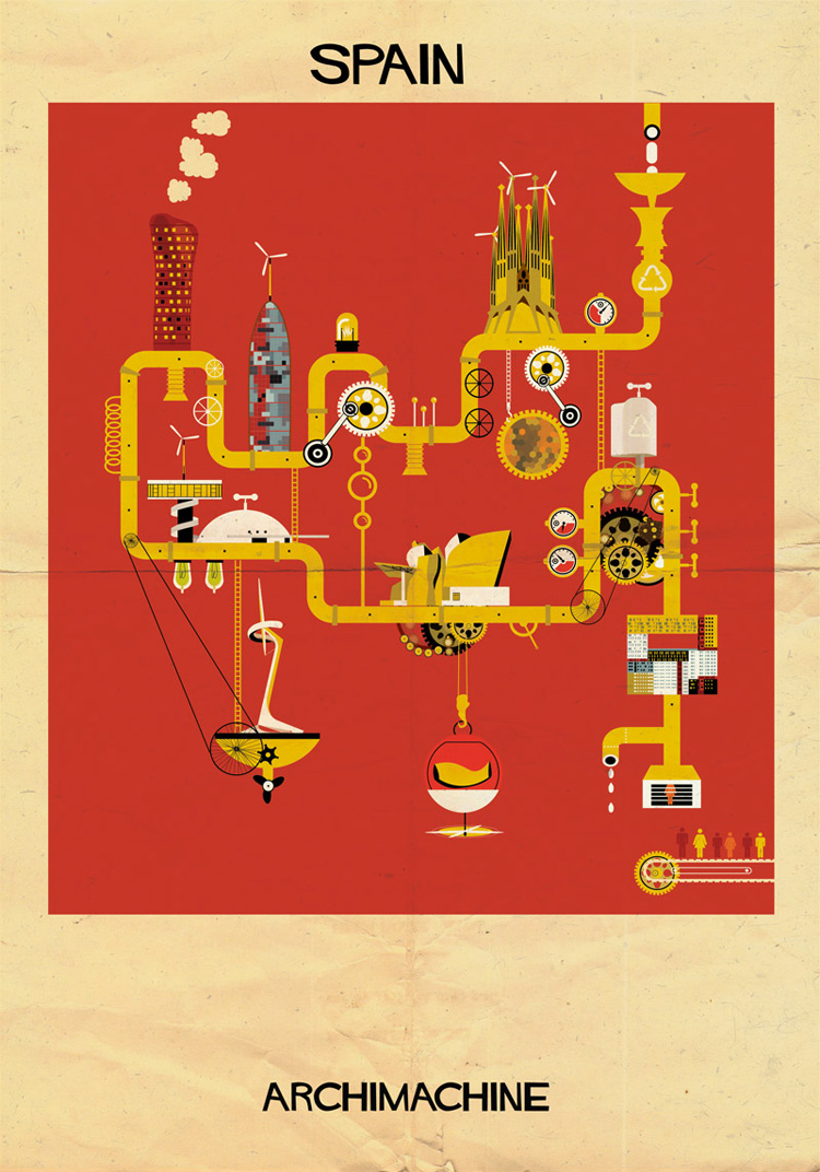 12-archimachine-federico-babina-illustrates-17-countries-through-architectural-machines