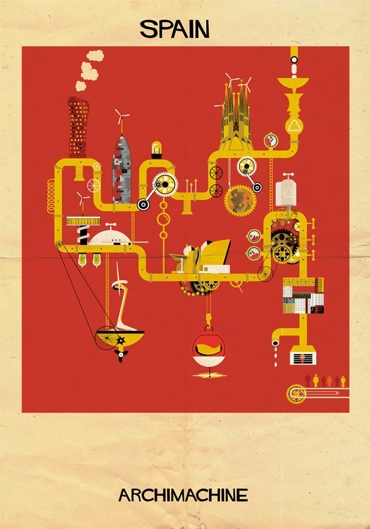 12-archimachine-federico-babina-illustrates-17-countries-through-architectural-machines