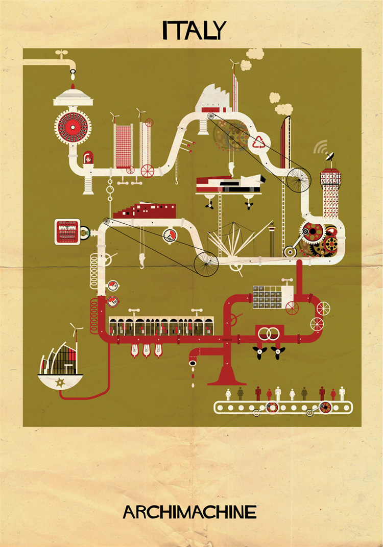 13-archimachine-federico-babina-illustrates-17-countries-through-architectural-machines