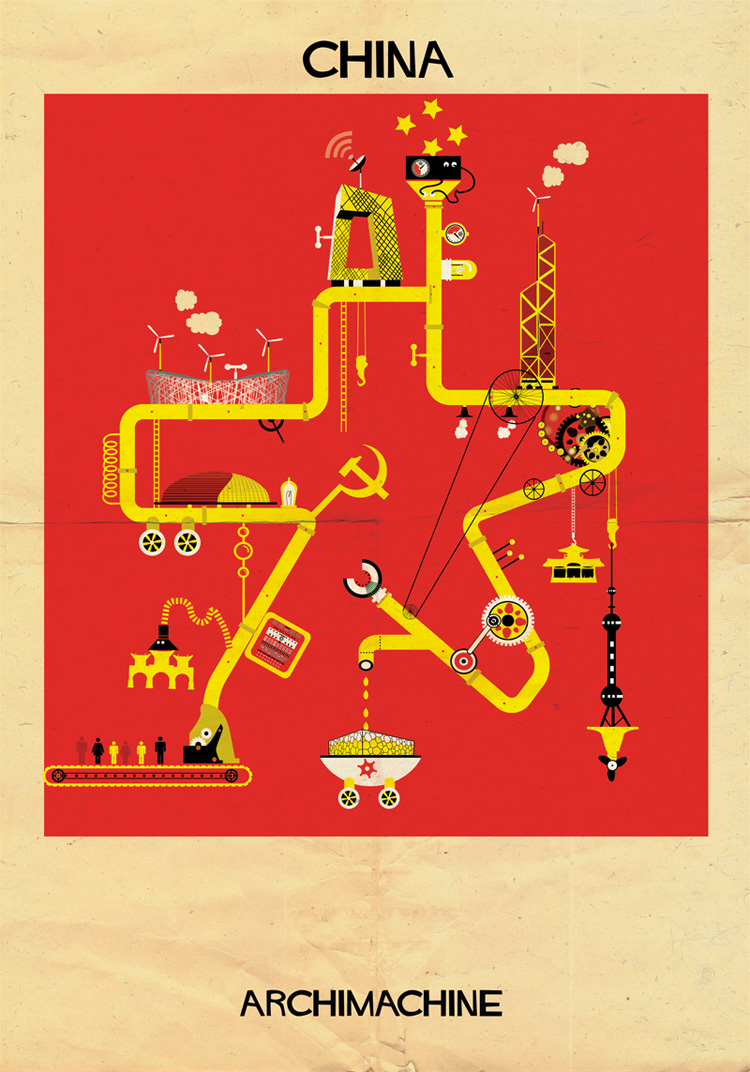 14-archimachine-federico-babina-illustrates-17-countries-through-architectural-machines