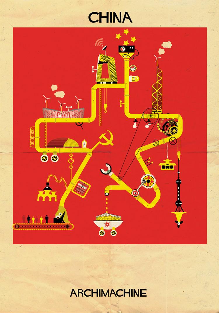 14-archimachine-federico-babina-illustrates-17-countries-through-architectural-machines