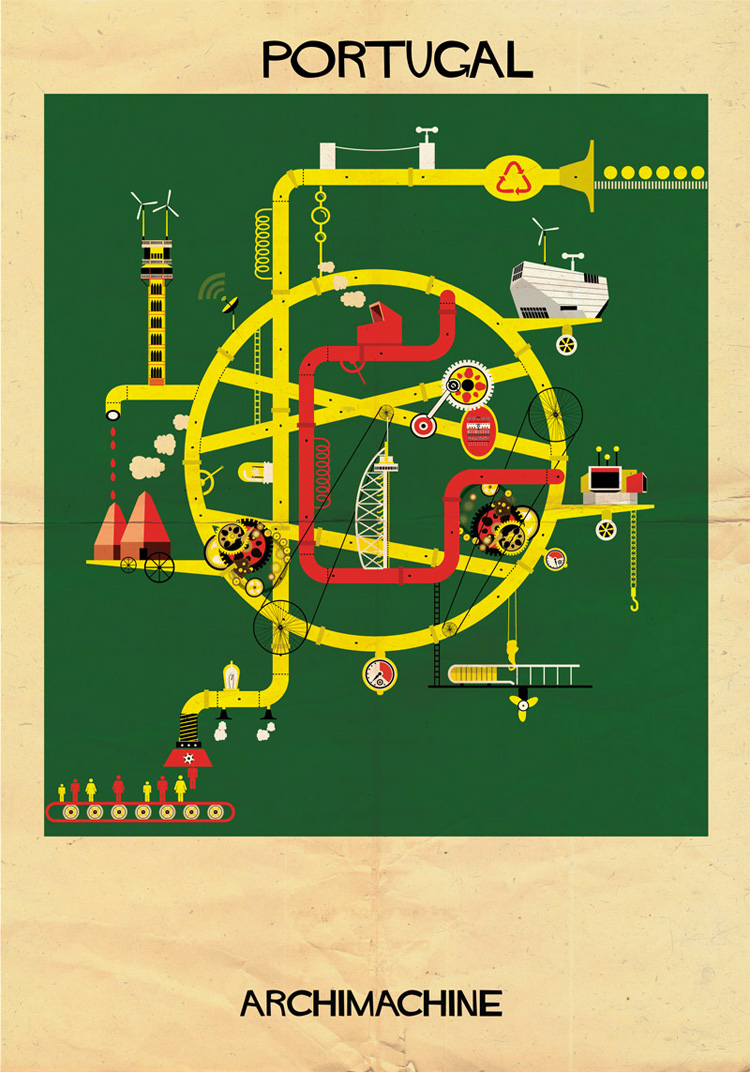 15-archimachine-federico-babina-illustrates-17-countries-through-architectural-machines