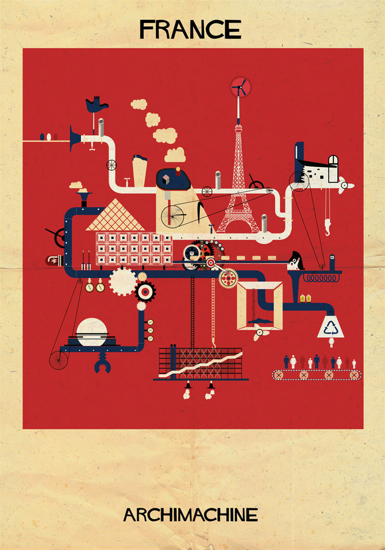 2-archimachine-federico-babina-illustrates-17-countries-through-architectural-machines
