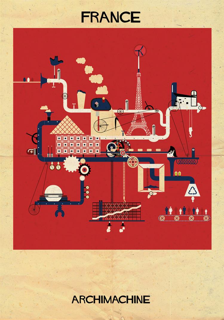 2-archimachine-federico-babina-illustrates-17-countries-through-architectural-machines