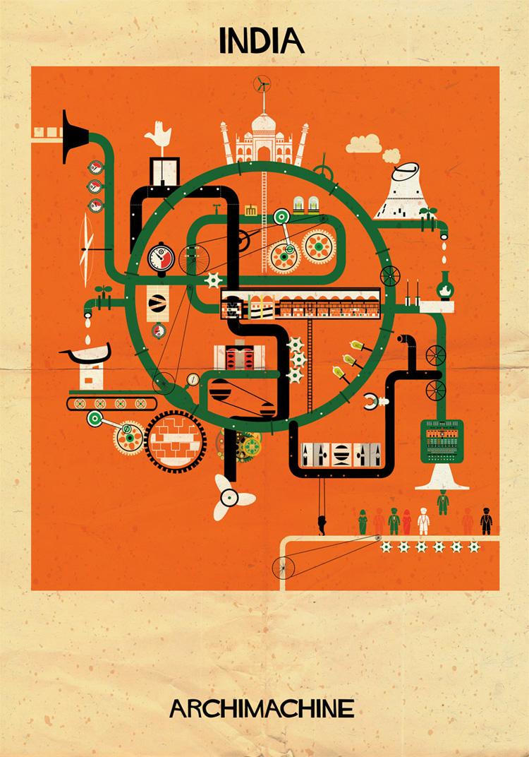 4-archimachine-federico-babina-illustrates-17-countries-through-architectural-machines