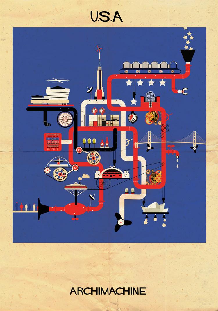 5-archimachine-federico-babina-illustrates-17-countries-through-architectural-machines