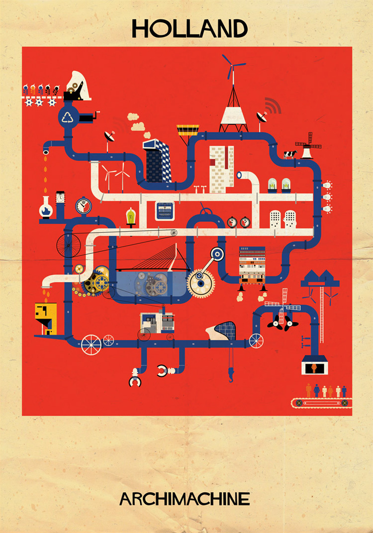 7-archimachine-federico-babina-illustrates-17-countries-through-architectural-machines