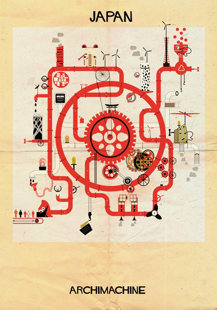 8-archimachine-federico-babina-illustrates-17-countries-through-architectural-machines
