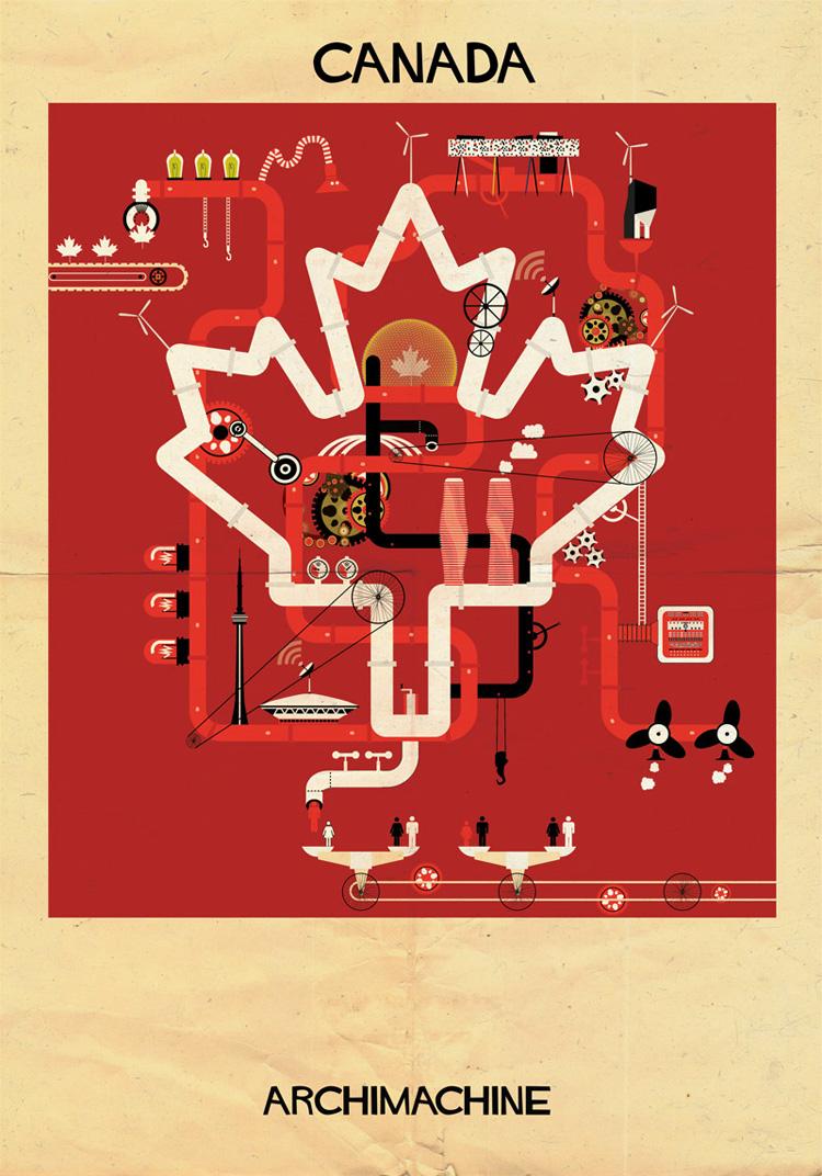 9-archimachine-federico-babina-illustrates-17-countries-through-architectural-machines